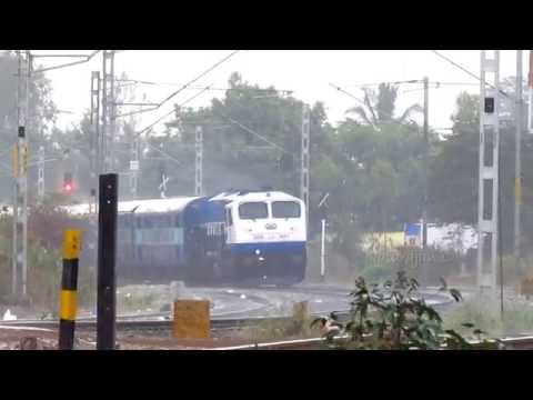 Indian Railways : Back to Back Trains in Rain