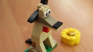 Как собрать собаку из конструктора Лего Классик 34 элемента Dog from Lego Classic 34 bricks 乐高玩具犬
