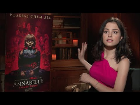 Katie Sarife Talks Paranormal Activity On The Set Of 'Annabelle Comes Home'