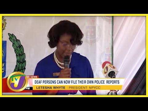 Deaf Persons can Now File Their own Police Reports | TVJ News - Sept 25 2021