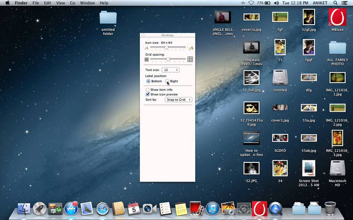 How to change desktop icon size on Mac OS - YouTube