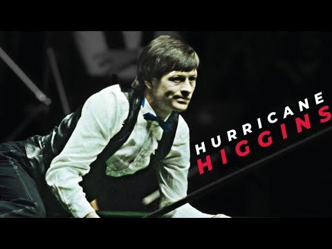 Alex Higgins doing Alex Higgins things at the 1985 Masters