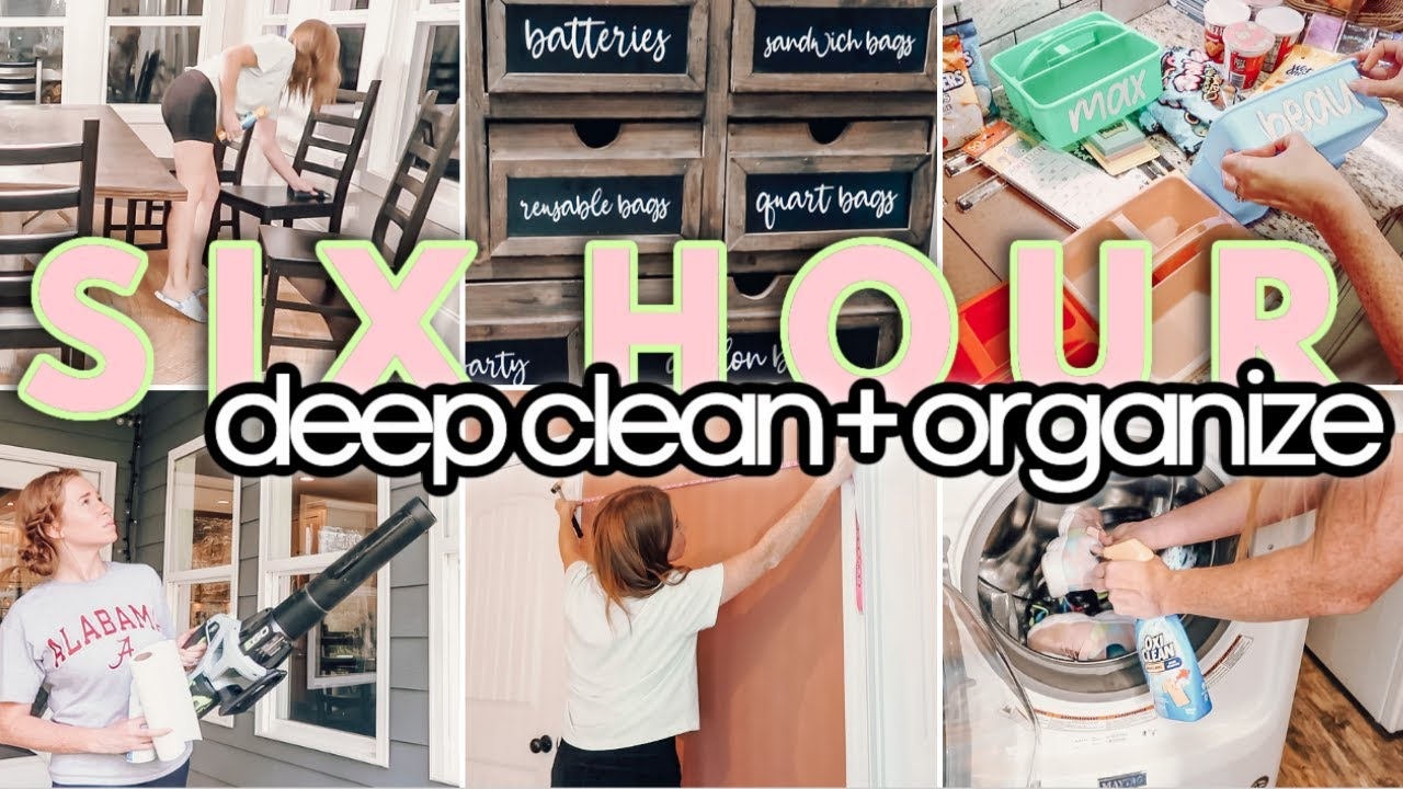 SIX HOUR DEEP CLEAN + ORGANIZE ⭐️    EXTREME CLEAN WITH ME   DAYS OF CLEANING MOTIVATION!   2021
