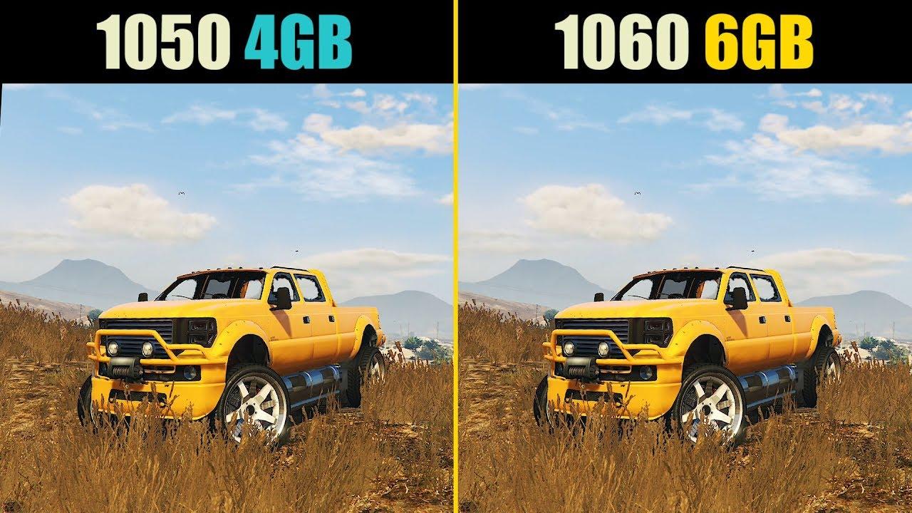 GTX 1050 Ti 4GB vs. GTX 1060 6GB (Test in 10 Games)