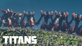 Planetary Annihilation: TITANS - 100 Atlas Titans vs 5.000 Land Units | Massive Battles
