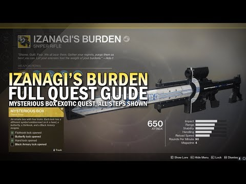 Izanagi's Burden Exotic Quest Full Guide (Mysterious Box Exotic Quest)