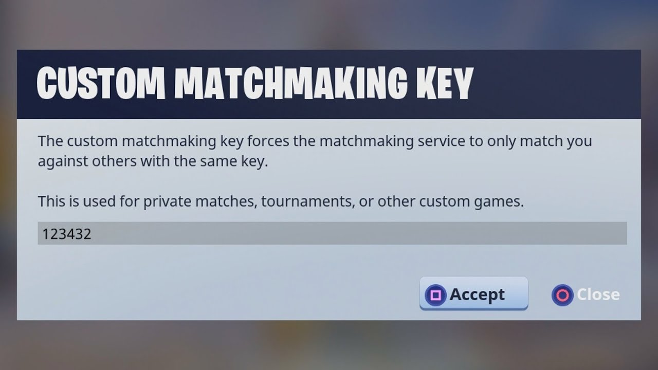 Private matchmaking