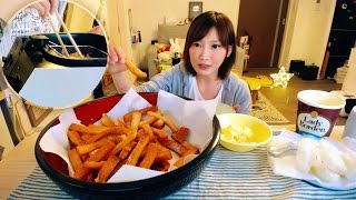 【MUKBANG】 Kinoshita Yuka's Social Eating LIVE [ Let's Make Fried Ear Of bread Snacks ] [NO CAPTION]