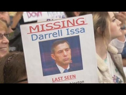 Rep. Darrell Issa TERRIFIED Of His Own Constituents