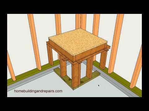 Example Of How To Frame Water Heater Platform Home Building Tips Youtube Wood Shed Plans Storage Building Plans Shed Building Plans