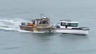 video: French 'nutcase' rams boat defending Jersey against blockade