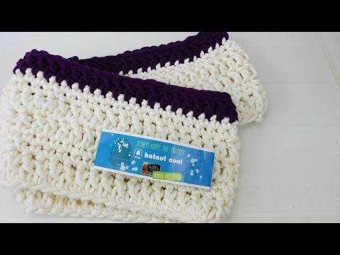 Schal häkeln Loop für Anfänger – Loop Schal mit festen Maschen und Stäbchen