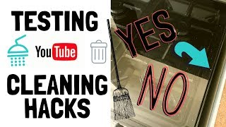 Testing YouTube 5 Min Cleaning Hacks