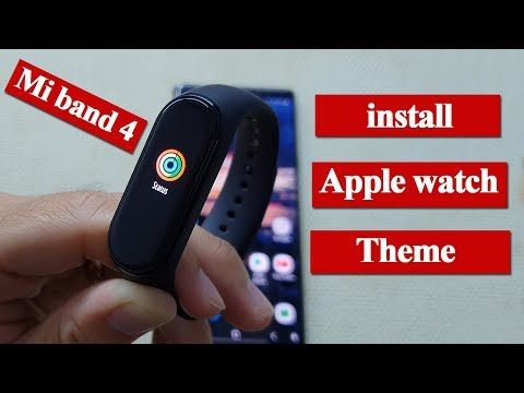 Mi Band 4 mod Theme Apple watch - Amazing Tips