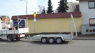 przyczepa do transportu sprzetu budowlanego
