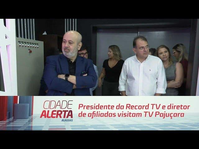 Presidente da Record TV e diretor de afiliadas visitam TV Pajuçara