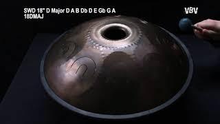 """Tongue Drum 18"""" 9 notes - D Major video"""