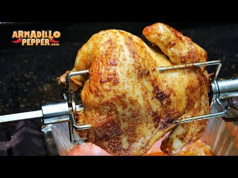 Old Bay Rotisserie Chicken on the Grill   Injected with Butter & Old Bay Seasoning