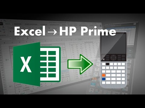 HP Prime - Enviar datos de Excel