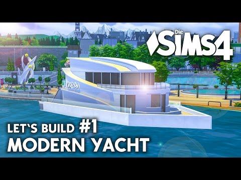 Yacht bauen in Die Sims 4 | Let's Build #1 Hafen Grundstück mit modernem Boot