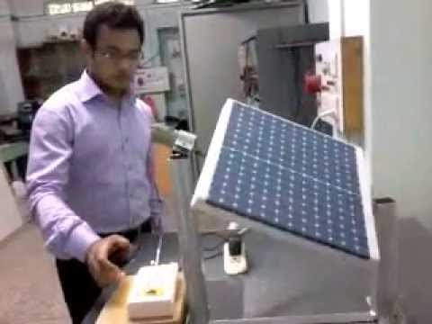 Single Axis Automatic Solar Tracking System Youtube