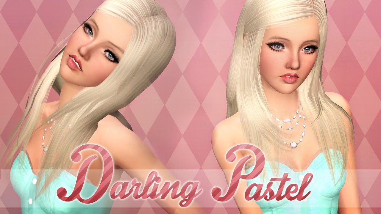 the sims 3 create a sim darling pastel youtube. Black Bedroom Furniture Sets. Home Design Ideas