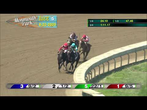 video thumbnail for MONMOUTH PARK 08-22-20 RACE 5 – THE ISELIN STAKES