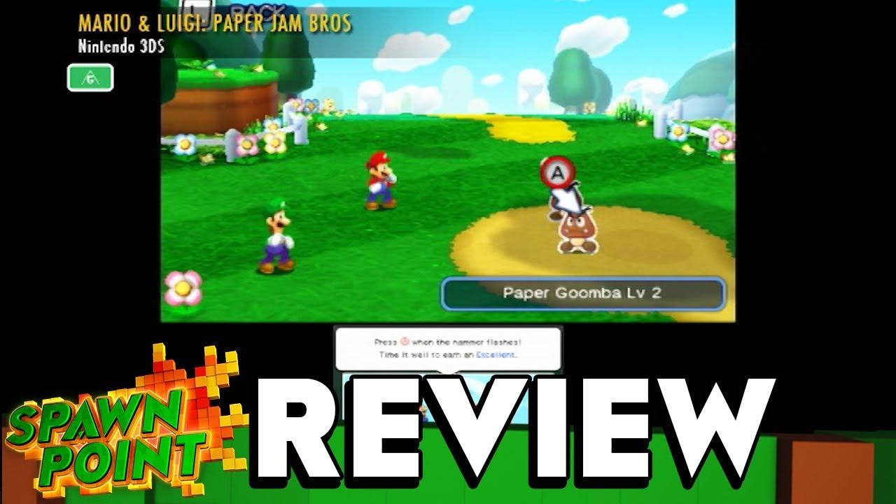 Mario Luigi Paper Jam Bros Game Review