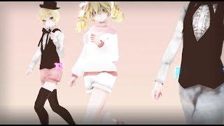 MMD X Black Butler Ciel Phantomhive Elizabeth Midford Alois Trancy Umbrella REMIX DL