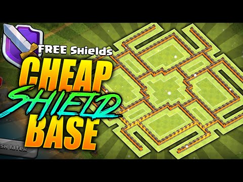 Clash of Clans – EPIC Town hall 9 FREE Shield BASE!! TH9 Hybrid/Cheap Shield BASE!! (CoC Best TH9!)