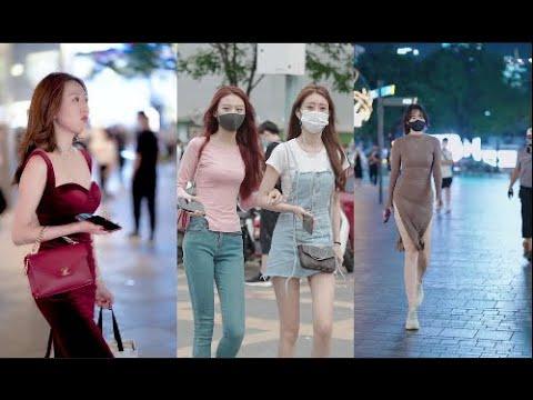 【抖音2021】街拍时尚美女模特,街头美女合集( 02 )