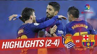 Resumen de Real Sociedad vs FC Barcelona 2-4