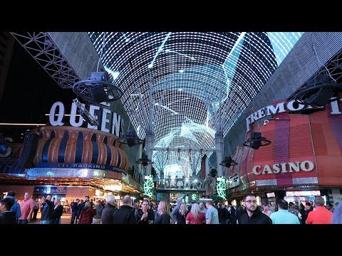 DOWNTOWN FREMONT STREET LAS VEGAS NIGHT SCENES VLOG #263 0
