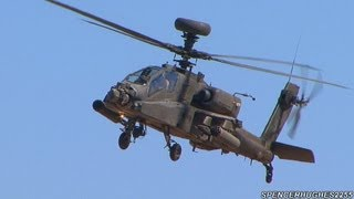 AH-64 Apache Hover Demo @ 2013 El Centro Air Show