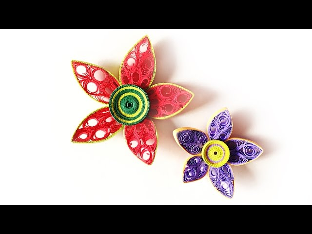 diy paper quilled flower for decoration paper quilling art