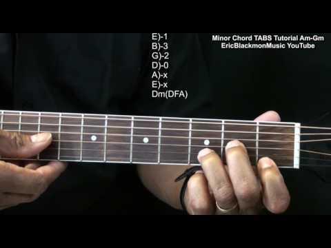 How To Play MINOR CHORDS On Guitar Am Bm Cm Dm Em Fm Gm  EricBlackmonGuitar HD