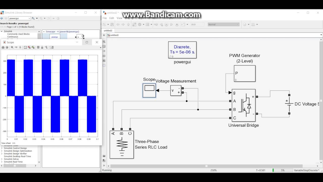 part 1 inverter and filter design matlab simulink inverter ve rh youtube com