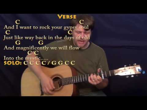 Into the Mystic (Van Morrison) Guitar Cover Lesson with Chords/Lyrics - Capo 3rd