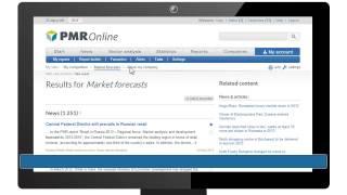 PMR Online - Market Intelligence Portal - Presentation