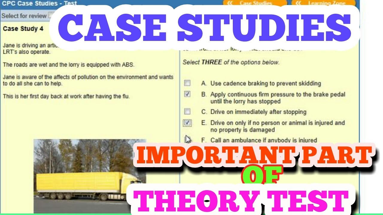 dsa cpc case study theory test booking