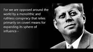 JFK's Warming Against Secret Societies (excerpt), From YouTubeVideos