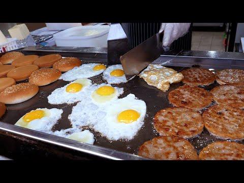 계란후라이 치즈버거, 해장버거로 유명한 곳 / fried egg cheeseburger - korean street food