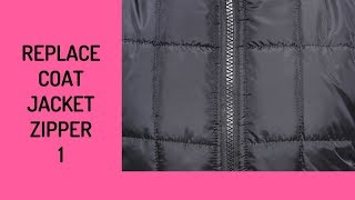 How To Replace A Coat/Jacket Zipper 1