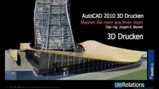 Autocad 2010 3d Drucken