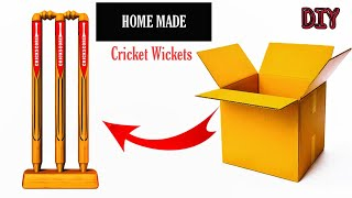 How to make cricket stumps at home | how to make stumps with paper | how to make wickets at home