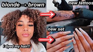 vlog: come to my appts with me! *2021 transformation* dyed my hair, new tattoos etc | Azlia Williams