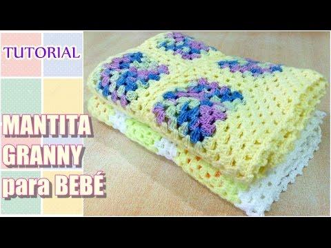DIY como tejer mantita con granny para bebé, Crochet Fácil Paso a ...