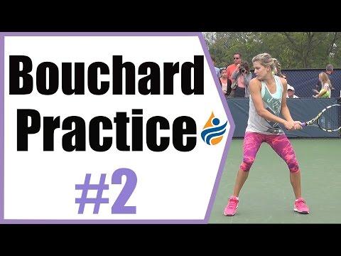 Eugenie Bouchard Practice Session #2 | Cincinnati 2014