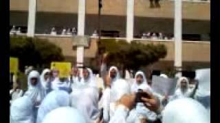مظاهرات إخوانية بمدرسة الفيوم ااثانوية بنات بالفيوم