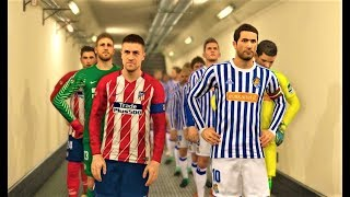 Real sociedad vs atletico madrid 2018 | full match | pes 2018 gameplay hd